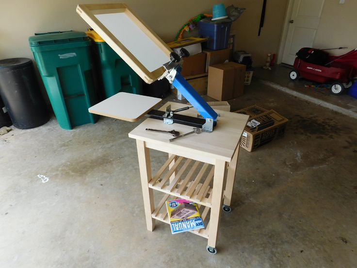 How To Build A Cheap Screen Printing Cart