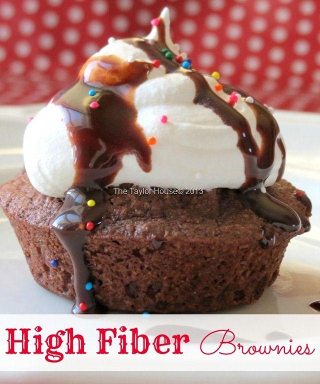 High Fiber brownies  Kellogg's All-Bran cereal and brownie mix