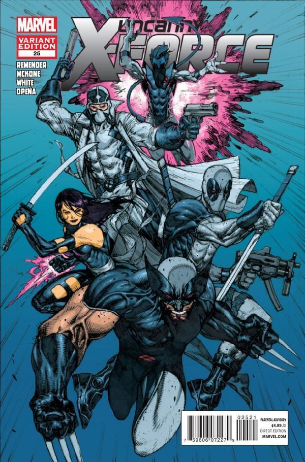 Uncanny X-Force #25 - Alternate Comic Book Cover