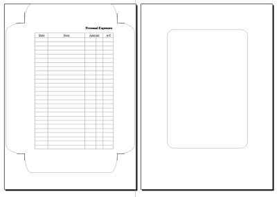 My Life All in One Place: Making Filofax expenses envelopes - A5 version