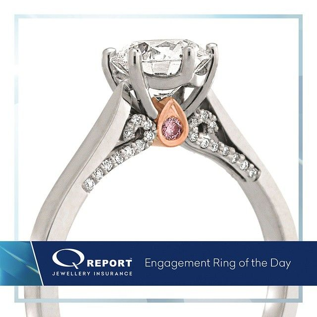 Awesome  ucA ct white diamond flanked by fancy pink Argyle diamonds on either side and By Jewelry InsuranceWhite DiamondsEngagement Rings uc
