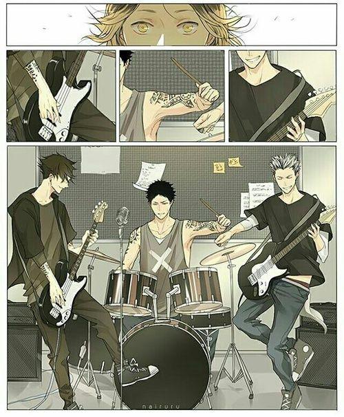 ongomgomgomg. My boys, my type, and my type of music...NOSEBLEED