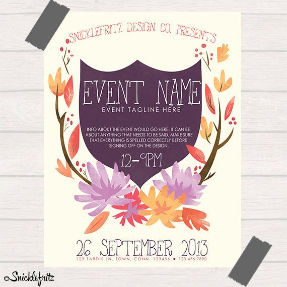 9 best Ladies Day Ideas images on Pinterest Coding, Computer - event flyer examples