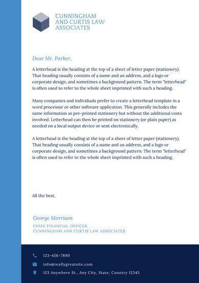 Blue Modern Law Firm Letterhead q Pinterest Letterhead - letterhead sample in word