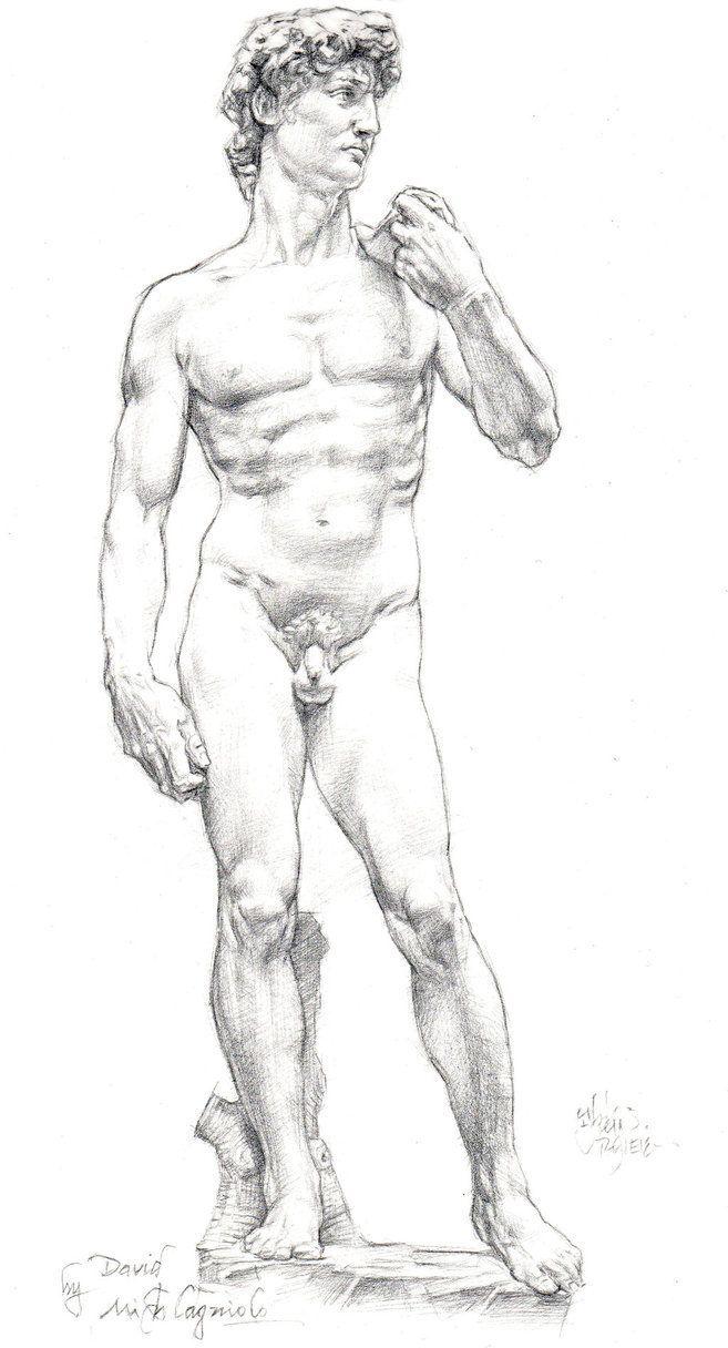 Resultado de imagen de David michelangelo sketch