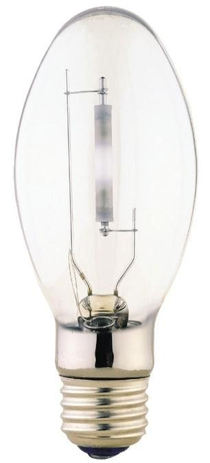 150 Watt ED17 HID High Pressure Sodium Light Bulb, 2100K Clear E26 (Medium) Base, Box