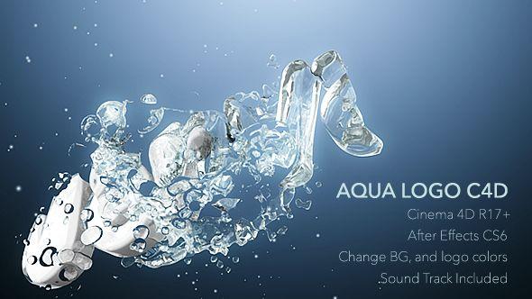Aqua Logo C4D Animation