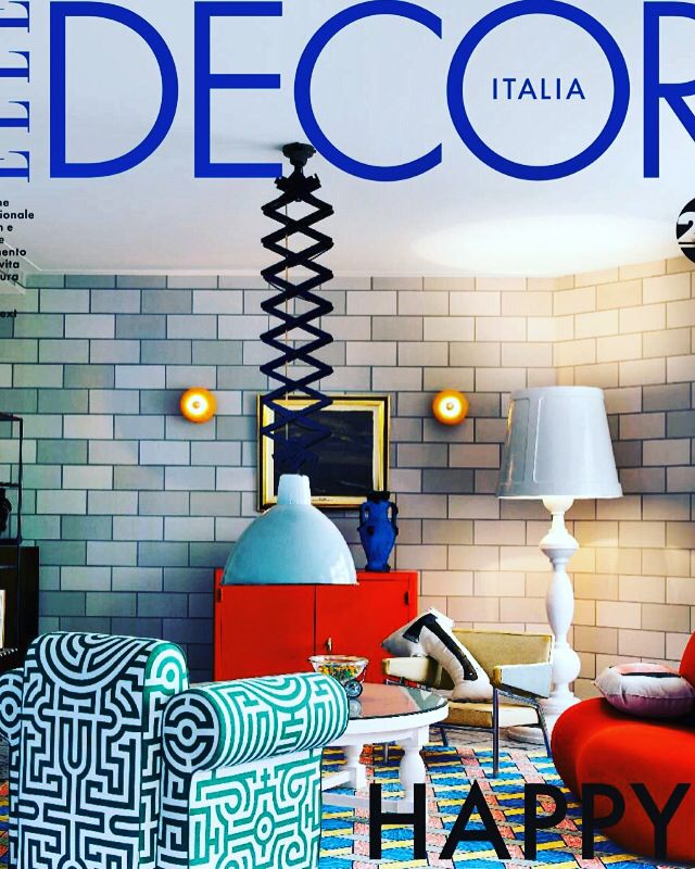 Take a close look and find the Mal AX cushion in the Studio Job interior, on the cover of the ELLE Decor. Killing me Softly.