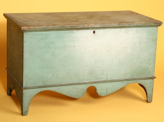 Lovely Blanket Chest, Pine, New England, About 1820