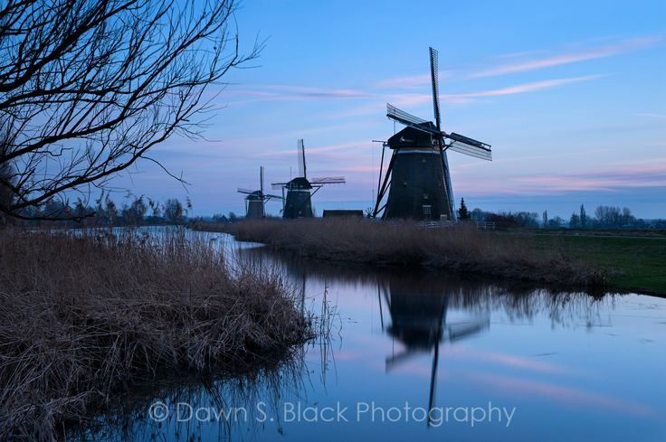 Dusk at the Drie Molen, Leidschendam, Zuid-Holland; The Netherlands
