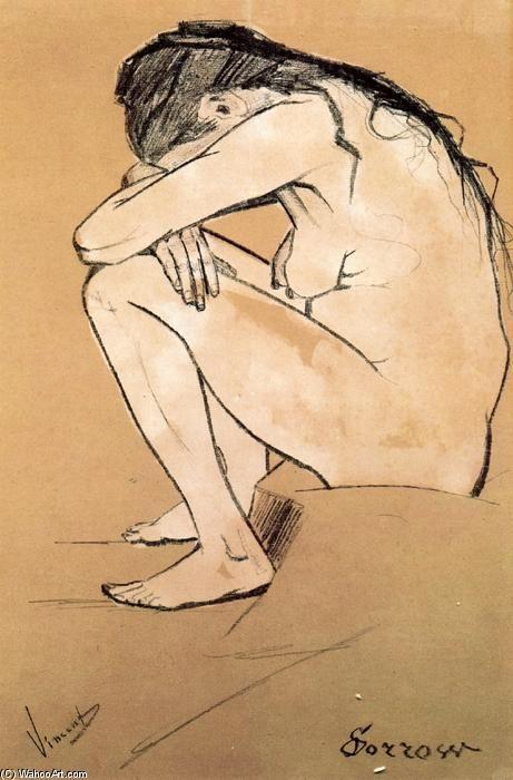 """Sorrow (Tristezza), matita di Vincent Van Gogh  La modella è Clasina Maria Hoornik (Sien) L'Aia, 1882 """"Voglio fare dei disegni che vadano al cuore della gente"""". L'Aia, 21 luglio 1882"""