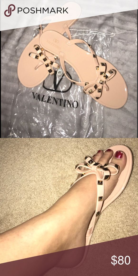 Jelly Sandals 💕 Valentino Jelly Sandals 💕 On sale! Inspired piece and brand new in package! They are a Euro size 40 and fit an 8-8 1/2. I have a pair in black. Let me know if interested. Make me an offer! 🤗 Valentino Shoes Sandals
