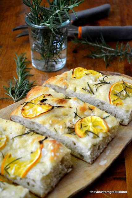 Meyer Lemon and Rosemary Focaccia by theviewfromgreatisland #Focaccia #Meyer_Lemon #Rosemary