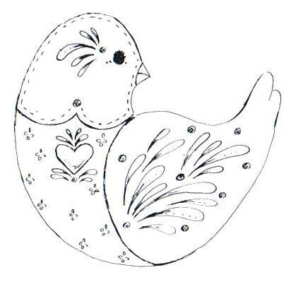 Cottage Crafts 8 Free Folk Art Bird Patterns For