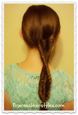 3 strand fishtail braid with a twist