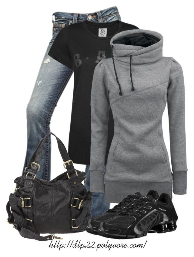 Everyday Outfit by dlp22 on Polyvore featuring Zoe Karssen, True Religion, NIKE and Nine West