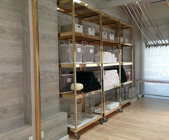 Brass Plated Industrial Shelving for The Design Confidential On Display // 5 Stylish Storage Solutions You Can Totally DIY