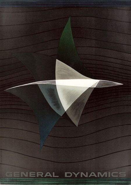 General Dynamics - Exploring the Universe, First steps into Space, Erik Nitsche, 1957