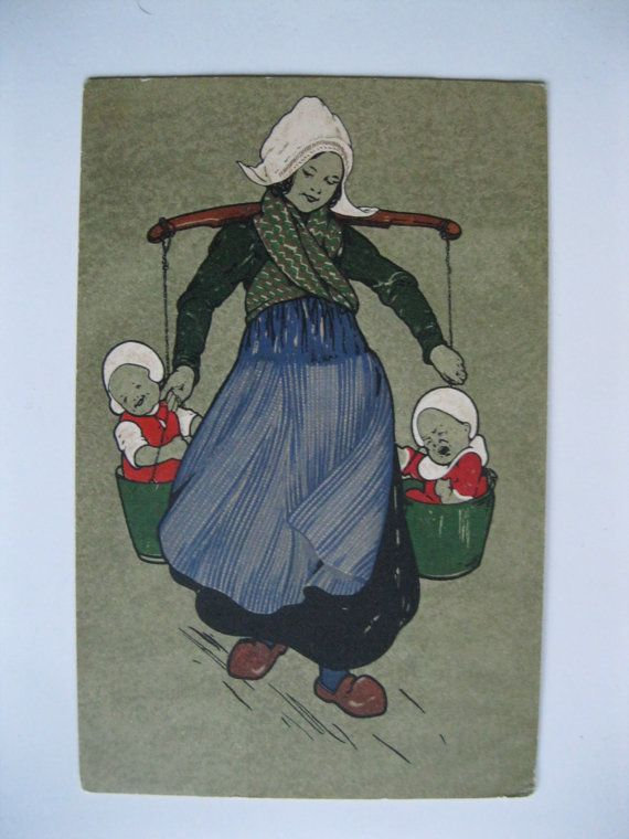 Antique Postcard. M.Munk.Vienne. 1900 era. Babies in by grandma62