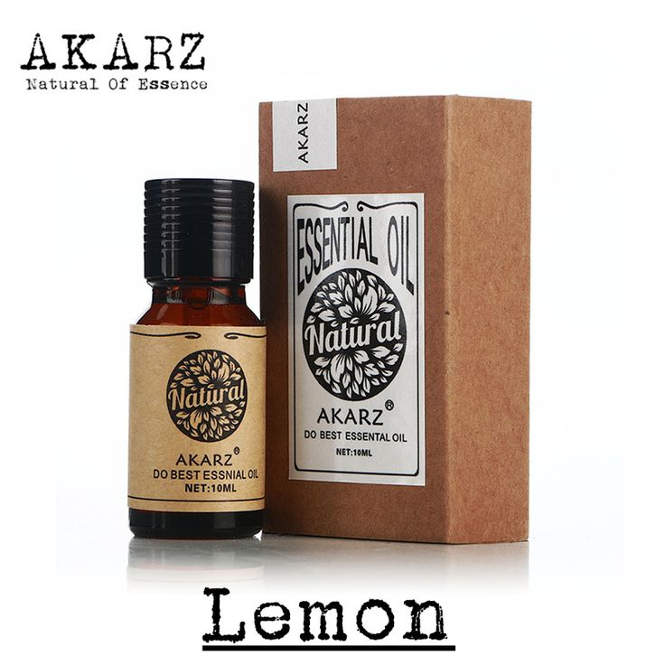 Famous brand AKARZ free shipping pure natural aromatherapy Lemon Essential Oil Skin whitening Remove halitosis Clean air