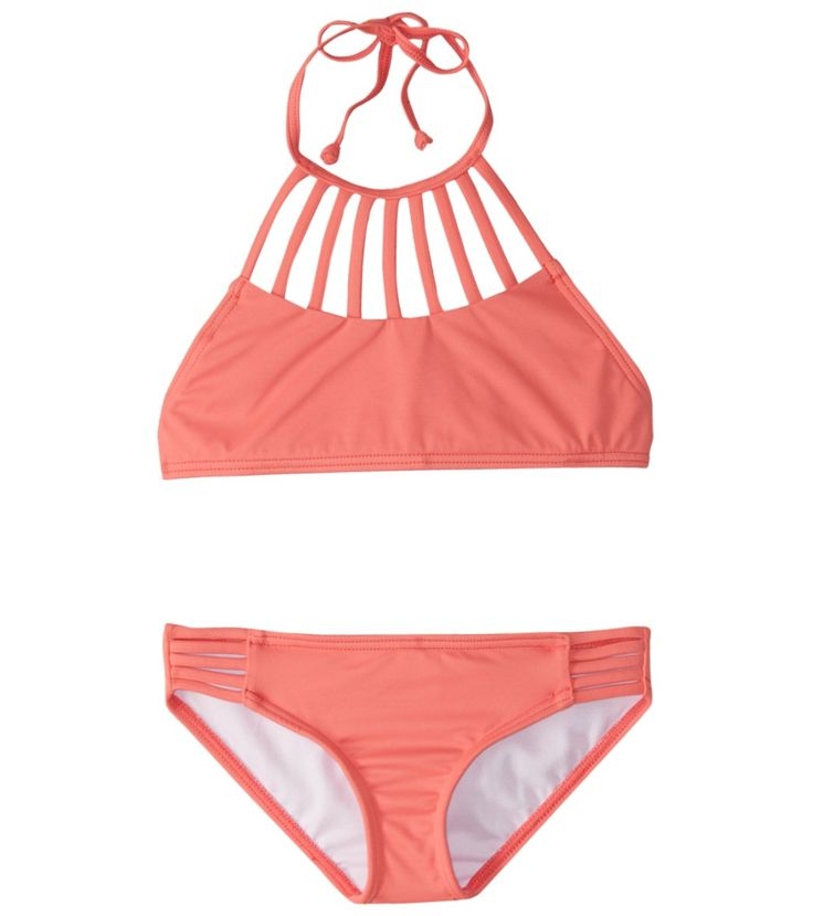 Image result for Billabong girls' sol searcher high neck bikini set (4-14)