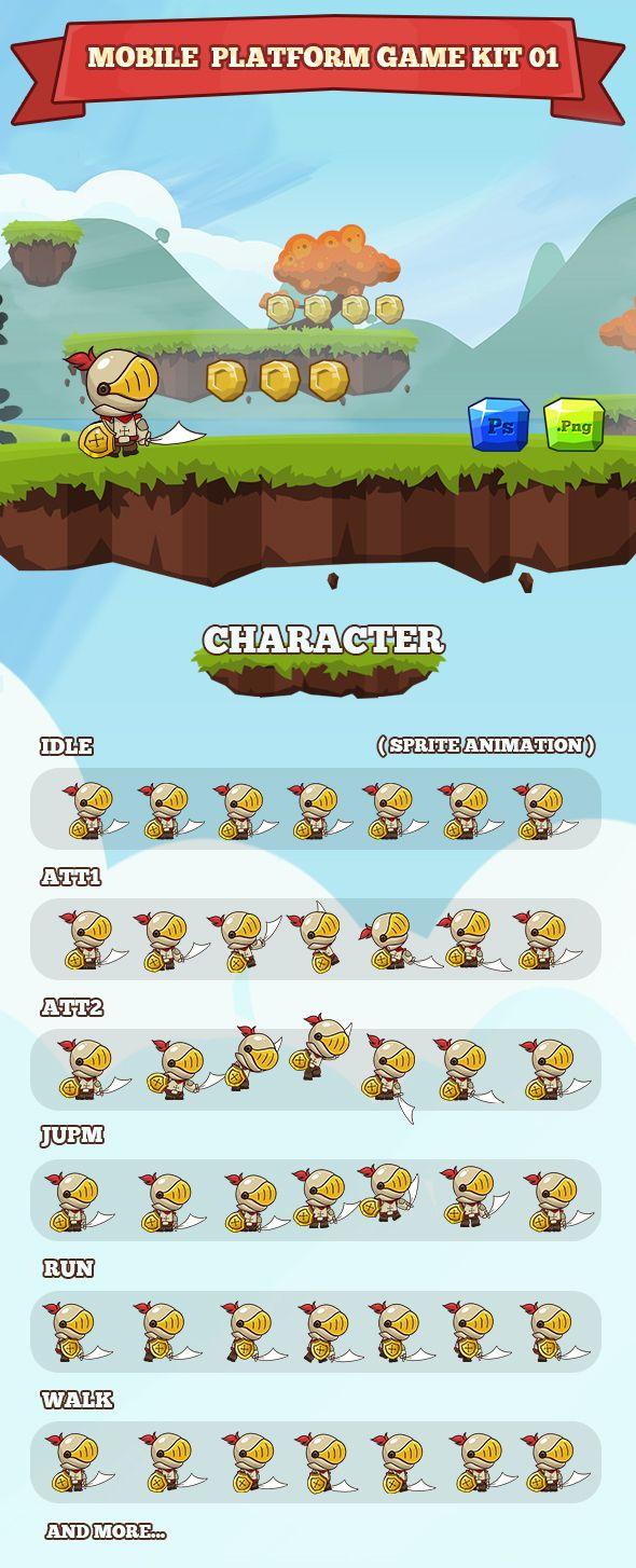 Mobile Platform Game Kit 01 on Behance