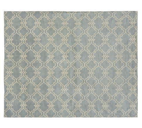 for bedroom? Scroll Tile Rug - Porcelain Blue | Pottery Barn