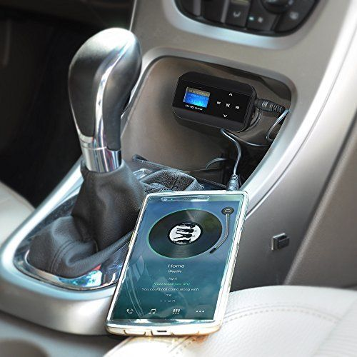 VicTsing Adaptateur voiture universel voiture Transmetteur FM Radio mp3avec prise audio 3,5mm et de chargement USB üchse [Prise en charge…