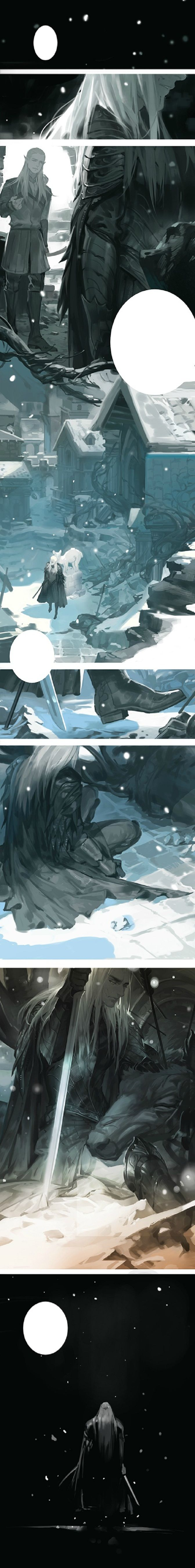 #Thranduil says goodbye to his elk. T_T