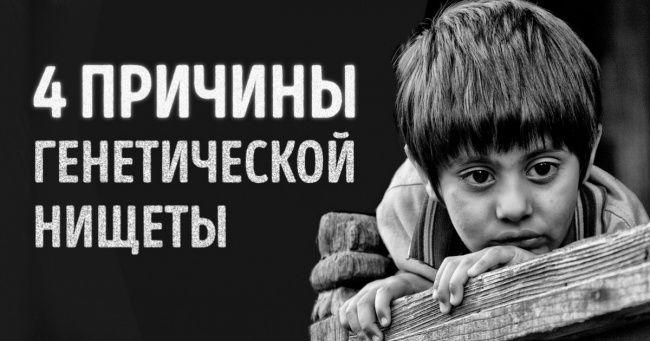 4причины генетической нищеты