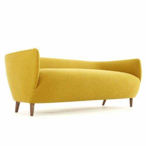 meuble jaune canapé contemporain design