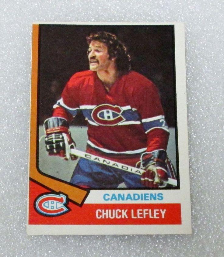 1974-75 CHUCK LEFLEY HOCKEY CARD! MONTREAL CANADIENS N/M ORIGINAL O PEE CHEE  #OPC #MontrealCanadiens