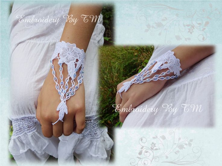 (10) Name: 'Embroidery : Lace bracelet-FSL