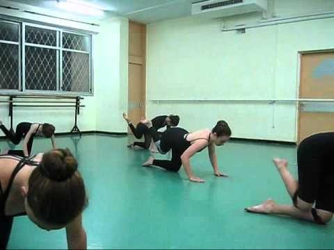 Modern dance class/Graham Technique...