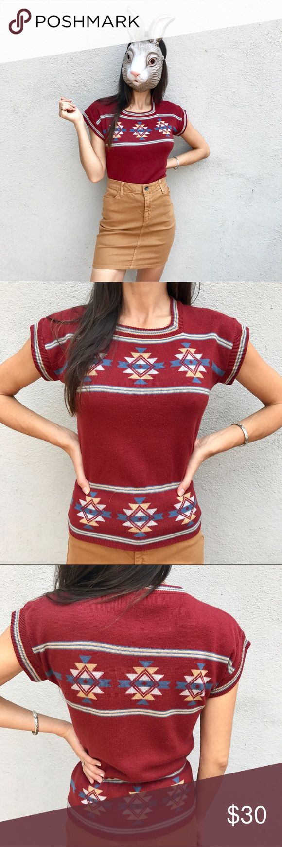 "Vintage Bullocks sweater top! VINTAGE Bullocks sweater top! Amazing piece! No size tags but would fit small/medium. Pit to pit 18"", length 23"". 100% acrylic. Some slight pilling as this is vintage. Skirt for sale in my shop, too! Vintage Tops"