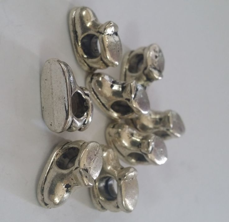 8 Boots Large 5 mm Hole  Beads fit European Jewelry - Only 1 available 84 by Adawnstyle on Etsy