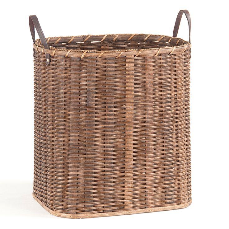 Tall Narrow Wicker Tote Basket Wicker Log Baskets Basket