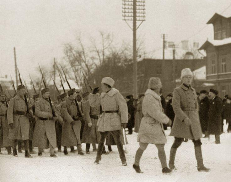 Finnish Volunteers in the Estonian War of Independance - Finnish volunteers arrive in Tallinn Estonia in December 1918 - http://www.alternativefinland.com/finnish-volunteers-in-the-estonian-war-of-independance/