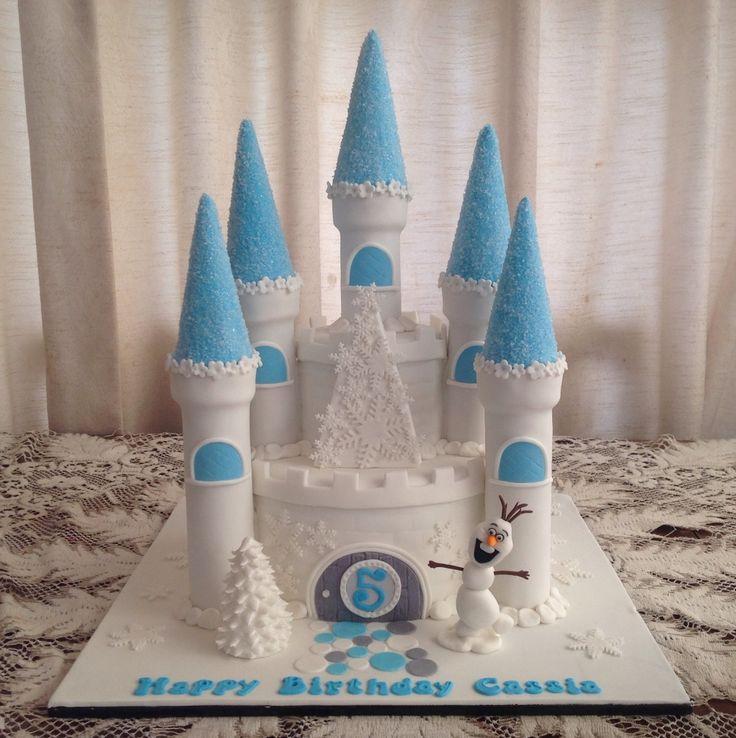 Pinterest Frozen castle cake | Frozen Castle (60 serves) $260