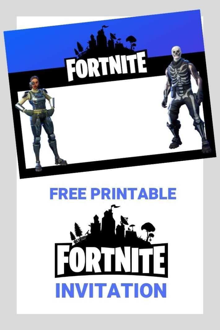 Fortnite Invitation Birthday Party Invitations Printable Birthday Party Invitations Free Printable Birthday Invitations