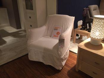 Camp Bay fauteuil stof: ecru