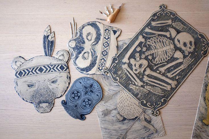 www.kat.io - Meriç Karabulut - Linocut Atelier, Istanbul Turkey
