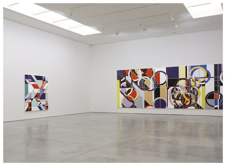 Sarah Morris Painting White Cube Installation