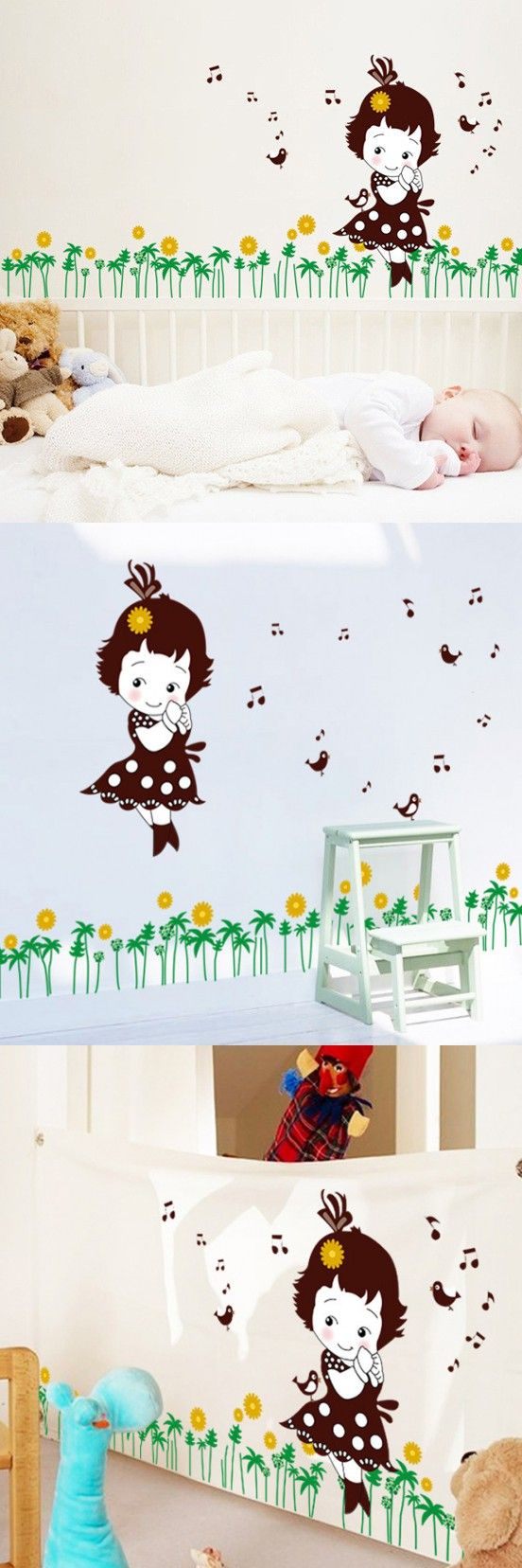 best 10 childrens bedroom wallpaper ideas on pinterest 2016 new fashion removable children theme home decoration wall stickers cute little girl wall decals children bedroom wallpaper