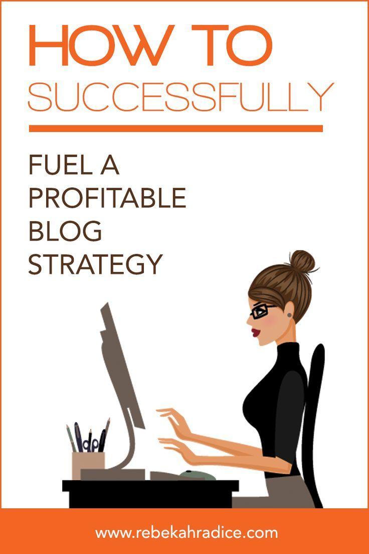 Successfully Fuel a Profitable Blog Strategy by @Rebekah Radice #blogging Blogging