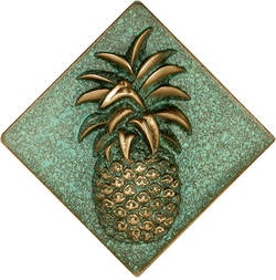 Give your home a nice tropical theme with the Pineapple bronze tile.