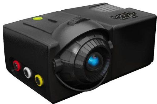 EyeClops Mini Projector Projects movies and television, video games and more. Projects up to 60 in size. Take it anywhere indoors, outdoors and on the go. Works with DVD players, iPod, video games, digital camera and more. Super LED illumination.  #Eyeclops #Toy