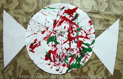 Marble Painting- Candy Cane & Pepeermint Candy Crafts