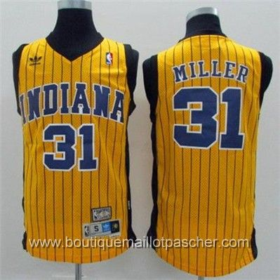 maillot nba pas cher Indiana Pacers Miller #31 Jaune mesh tissu 22,99€