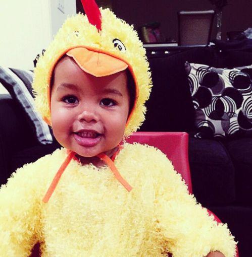 Le fils de Amber Rose en poulet